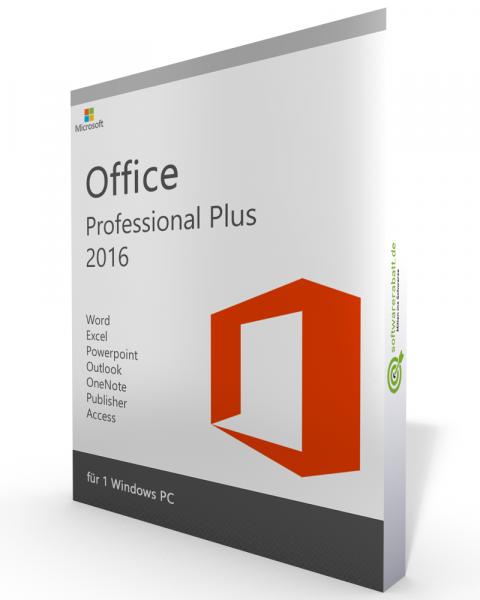 Microsoft Office 2016 Professional Plus Vollversion